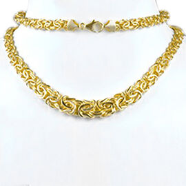 Byzantine Chain Necklace in 9K Yellow Gold 17 with 3 inch Extender