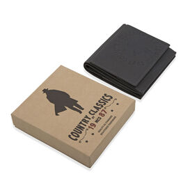 MCS Country Classics: 100% Genuine Leather wallet - Dark Grey