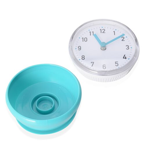 Petite Shape Wall Clock Turquoise Colour