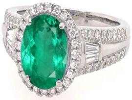 ILIANA 18K Yellow Gold AAAA Boyaca Colombian Emerald and Diamond (G-H/S-I) Ring 4.00  Ct, Gold wt 5.