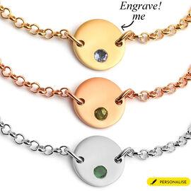 Personalised Initial Birthstone Bracelet