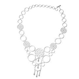 LucyQ Ultimate Dream Catcher Necklace in Rhodium Plated Silver 59.30 Grams 16 with 4 inch Extender
