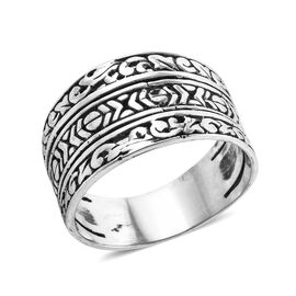 Royal Bali Collection Band Ring in Sterling Silver 5.24 Grams