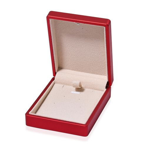 Solid Red Colour Led Light Earring Box (Size 9x7x3.5 Cm)