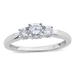 9K White Gold SGL Certified Diamond (Rnd) (I3/G-H) Ring 0.500 Ct.