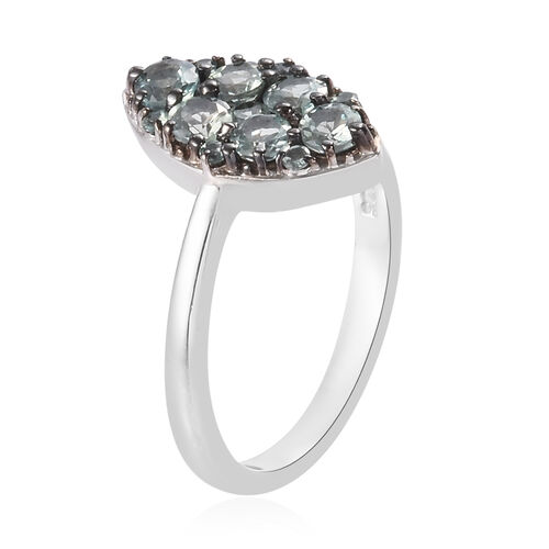 Narsipatnam Alexandrite Ring in Platinum & Black Overlay Sterling Silver 1.000  Ct.