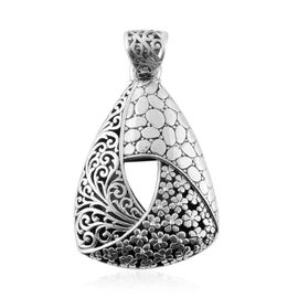 Filigree Floral Pendant in Sterling Silver 14.20 Grams