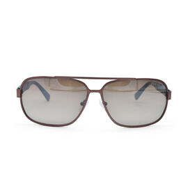 BROWN RECTANGULAR AVIATOR WITH BROWN LENSES