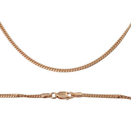 Bombe Chain in Rose Gold Plated Sterling Silver 5.77 Grams 20 Inch