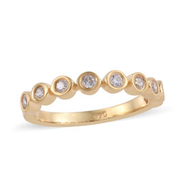 Natural Cambodian Zircon (Rnd) Ring in 14K Gold Overlay Sterling Silver 0.500 Ct.