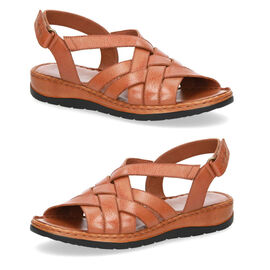 Caprice Leather Nappa Slingback Sandal - Tan