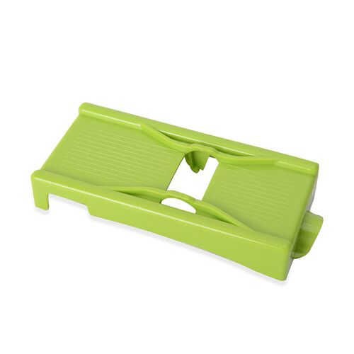 Set of 2 - Green Colour Magic Peeler, Julienne with Protector in Stainless Steel (Size 7.62x5.08x5.08 Cm) with Instruction Manual Included