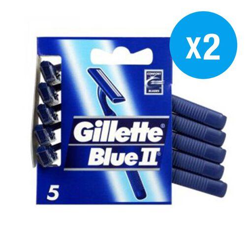Gilette: Blue II Disposable Razors 5s (Pack of 2)