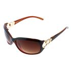 Designer Inspired Fashion Sunglasses - Brown