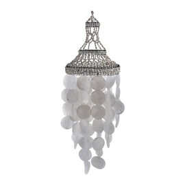 Bali Collection - White Seashell Decorative Wind Chime (Size 80x23 Cm)