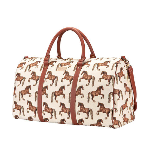 Signare Tapestry - 2 Piece Set - Whistlejacket Travel Bag (56X29X33cm) and Sling Bag (56X29X33cm) in Beige