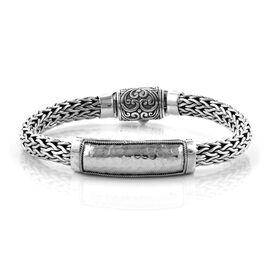 Bali Legacy Collection Sterling Silver Tulang Naga Bracelet (Size 7.25), Silver wt 49.31 Gms.
