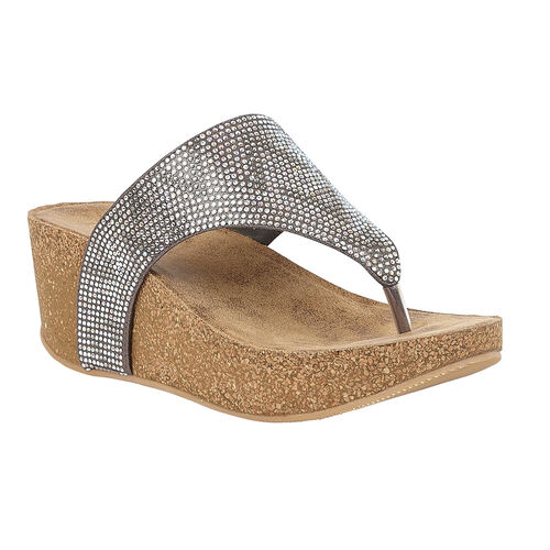 Lotus Patsy Wedge Sandals (Size 7) - Pewter