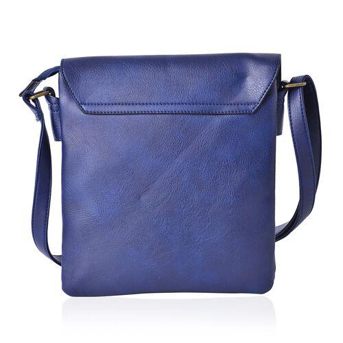 Cambridge Royal Blue Colour Crossbody Bag with Adjustable Shoulder Strap (Size 27x24x2 Cm)