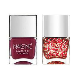 Nails Inc: Royal Avenue Red & Noble Street- 14ml