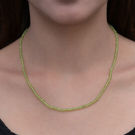 Peridot Beaded Necklace (Size 18) in Sterling Silver 32.78 Ct.