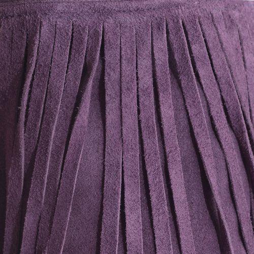 Purple Colour Potli Bag with Long Fringes and Chain Strap (Size 17x17x8.5 Cm)