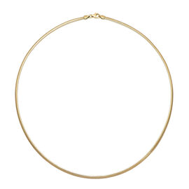 Value Buy- Italian Made 9K Yellow Gold Flat Mesh Necklace (Size 18) Gold Wt 2.20gm