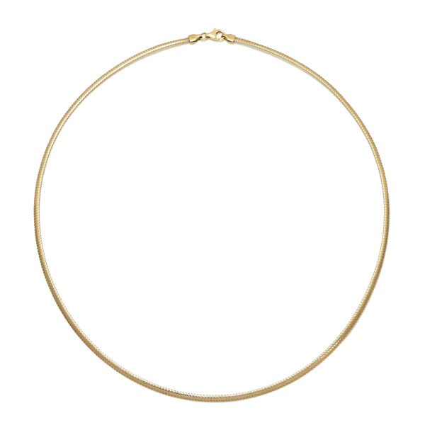 Italian Made 9K Yellow Gold Flat Mesh Necklace (Size 18) Gold Wt 2.20 Gms