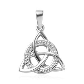 Platinum Overlay Sterling Silver Celtic Knot Pendant