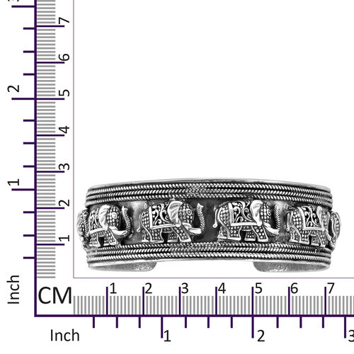 Royal Bali Collection Sterling Silver Cuff Bangle (Size 7.5), Silver wt 44.00 Gms