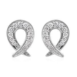 RACHEL GALLEY 0.50 Ct Diamond Stud Cluster Earrings in 950 Platinum IGI Certified VS EF
