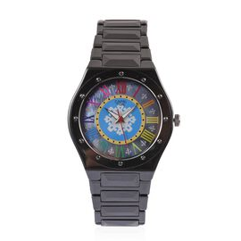 Limited Edition- GP CAPRI TIME Swiss Movement Fleur De Lis Grey MOP Multi Colour Roman Number Dial W