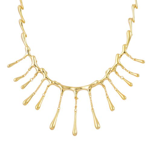 LucyQ Multi Drip Necklace (Size 20 with Extender) in Yellow Gold Overlay Sterling Silver 43.65 Gms.