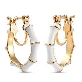 Enamelled Earrings in Gold Tone