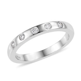 RHAPSODY 950 Platinum IGI CERTIFIED Diamond (Rnd) (VS / E-F) Band Ring 0.150 Ct.