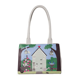 Limited Collection Mala Super Soft Genuine Leather Beaus Garden Shed Large Shoulder Handbag (Size 33