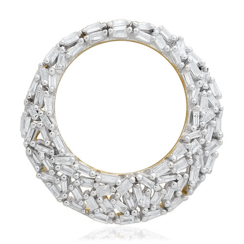 9K Yellow Gold SGL Certified Diamond (Bgt) (I3/G-H) Pendant 0.500 Ct.