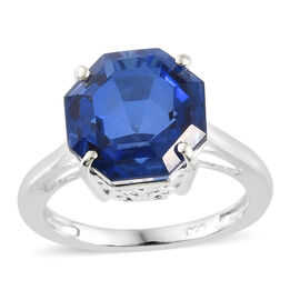 Ceylon Colour Quartz (Octillion) Solitaire Ring in Sterling Silver 6.000 Ct