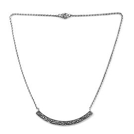 Bali Legacy Collection Sterling Silver Necklace (Size 18), Silver wt 10.50 Gms