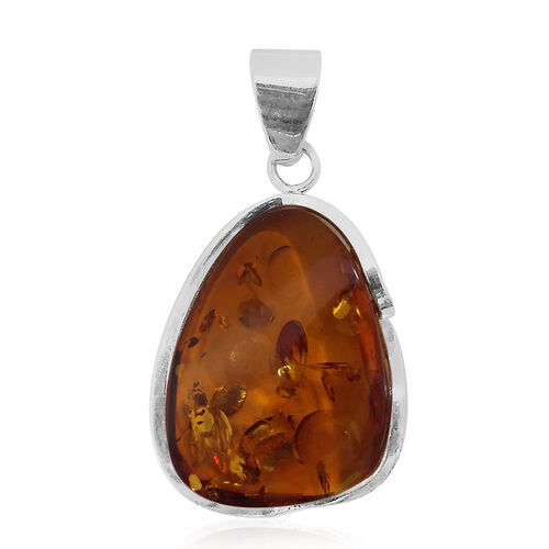 Tucson Collection Baltic Amber Pendant in Sterling Silver 32.500 Ct.