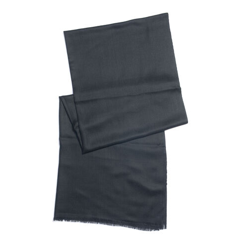 100% Cashmere Wool Black Colour Ultra Soft Scarf (Size 200X70 Cm)