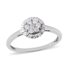 9K White Gold SGL CERTIFIED Diamond (Rnd) (I3 / G-H) Ring 0.500 Ct.