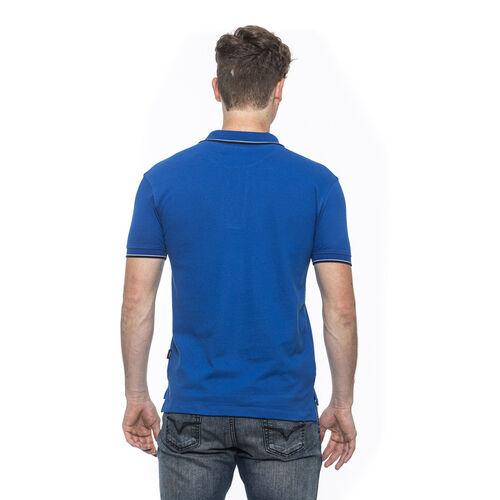 19V69 ITALIA Short Sleeve Basic Polo Shirt (Size M) - Royal Blue