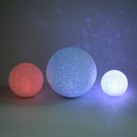 Set of 3 - Kids Room Decoration Multicolour LED Light (Dia: 8/10/15 Cm) (Battery included)