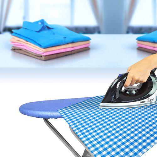 Multi-function Foldable Ironing Board with Step Ladder - Blue (Folding Size: 96x34cm) (Open Size: 125x34x85)