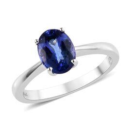 RHAPSODY 950 Platinum AAAA Tanzanite (Ovl) Solitaire Ring 1.25 Ct.