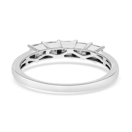 ILIANA 18K White Gold IGI Certified Diamond (SI/G-H) 5-Stone Ring 1.000  Ct.