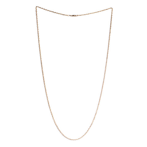 Yellow Gold Overlay Sterling Silver Rope Necklace (Size 24). Silver wt. 3.50 Gms.
