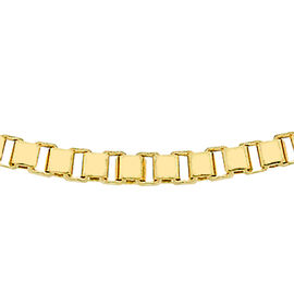 9K Yellow Gold Box Chain (Size 16), Gold wt 4.30 Gms