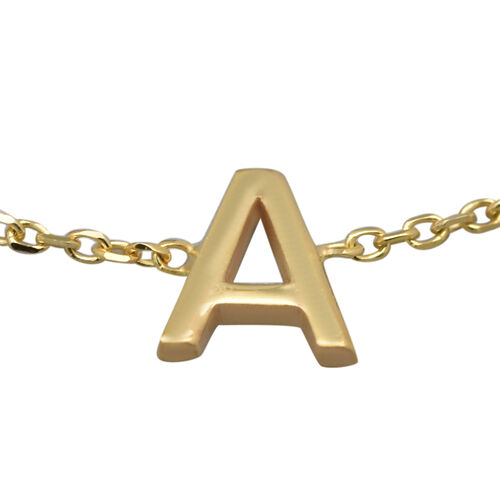 9K Yellow Gold Mini Initial Bracelet (Size 7),  Gold Wt. 0.40 Gms